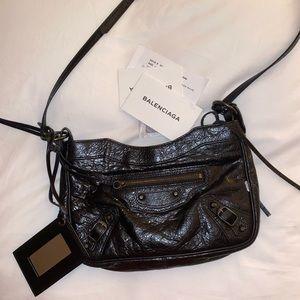 Balenciaga Black Leather mini city bag